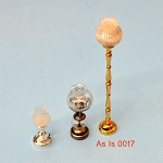 AS IS -  3pcs non-working lights for decorative purposes or for parts 0017