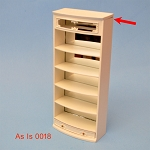 As IS - shelves unit white for 1:12  dollhouse miniature 0018