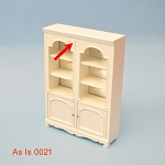 As IS - shelves unit white for 1:12  dollhouse miniature 0021