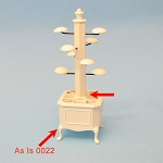As IS - Hats stand white for 1:12  dollhouse miniature 0022