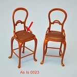 AS IS - tall Bar bistro stools 2pcs for 1:12  dollhouse miniature 0023