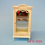 As IS - white  display unit with mirror  for 1:12  dollhouse miniature 0026