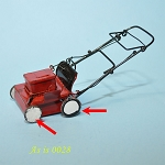 AS IS - Metal Lawn Mower Grass Cutter dollhouse Miniature 1:12  0028
