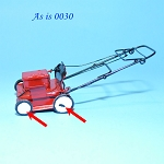 AS IS - Metal Lawn Mower Grass Cutter dollhouse Miniature 1:12  0030