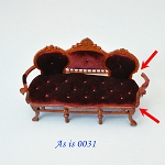 AS IS - Victorian Sofa Settee 95020 dollhouse Miniature 1:12  0031