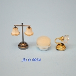 AS IS -  3pcs non-working lights for decorative purposes or for parts 0034