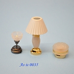 AS IS -  3pcs non-working lights for decorative purposes or for parts 0035