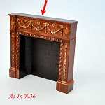 AS IS 0036 - fireplace resin for dollhouse Miniature 1:12  A4485BW BR01