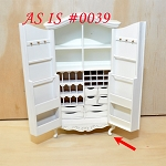 AS IS 0039 - Fine Quality Elegant Wardrobe for dollhouse Miniature 1:12 scale