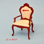 AS IS - Victorian arm chair dollhouse Miniature 1:12  0039