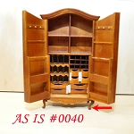 AS IS 0040 - Fine Quality Elegant Wardrobe for dollhouse Miniature 1:12 scale