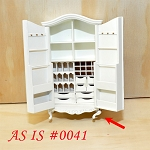 AS IS 0041 - Fine Quality Elegant Wardrobe for dollhouse Miniature 1:12 scale