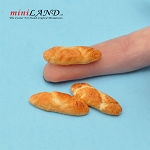 3pcs buns breads French baguettes for 1:12 dollhouse miniature food
