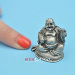 Buddha Statue metal for dollhouse miniatures type C 1.25