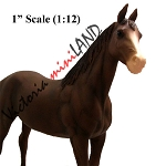 COCO BROWN HORSE -  for 1:12 dollhouse miniature