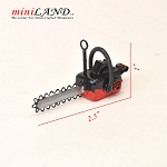 Black and red garden chain saw tool  for 1:12 dollhouse miniature