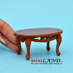 Wooden coffee table with detailing dollhouse miniature 1:12 MH