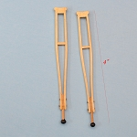 Wooden crutches for dollhouse miniature 1:12 scale