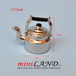 Metal quality Miniature kettle For 1:12 Dollhouse Kitchen Accessories