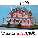 Northeastern Scale 1/144 Gothic Mansion  kit Dollhouse for Dollhouse