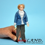 Gentleman man Porcelain doll  in Jacket and Vest 6