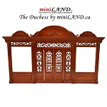 The Duchess - Quality wooden store front facade  1:12 scale roombox dollhouse miniature walnut