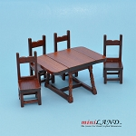 Clearance sale - table and chairs Kitchen Room 5pcs Set for dollhouse miniature 1:12 scale