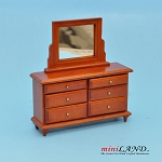 Clearance sale - cognac  dresser for dollhouse miniature 1:12 scale