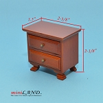 Clearance sale - cognac  bedside table for dollhouse miniature 1:12 scale