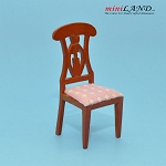 Clearance sale - cognac  bedroom chair table for dollhouse miniature 1:12 scale