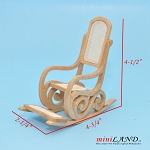 Clearance sale - Light Oak rocking chair for dollhouse miniature 1:12 scale
