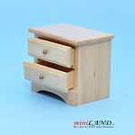 Clearance sale - light Oak BEDSIDE TABLE for dollhouse miniature 1:12 scale