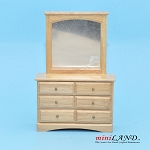 Clearance sale - Light Oak  DRESSER for dollhouse miniature 1:12 scale