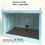 THE NEW TALL EMPRESS+ ROOM BOX KIT BY MINILAND Blue + gold  1:12 scale