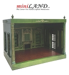 THE NEW TALL EMPRESS+ ROOM BOX KIT BY MINILAND Green+ gold  1:12 scale