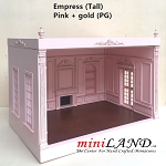 THE NEW TALL EMPRESS+ ROOM BOX KIT BY MINILAND Pink + gold  1:12 scale