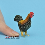 "Rooster 1-3⁄8""H x 1-3⁄8""L For dollhouse miniatures 1:12 scale"