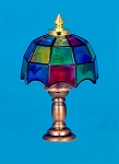 Clearance SALE Tiffany Table Lamp12v dollhouse miniature1:12 light
