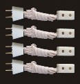 Single Receptacle 4pcs  dollhouse miniature light 12v extension cord