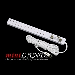 Long power bar dollhouse miniature light