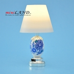 Silver blue Modern table Lamp  LED Super bright with On/off switch