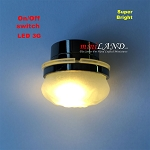 BLACK Ceiling lamp  frosted shade light  LED Super bright with On/off switch for dollhouse miniature 1:12