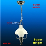 Black  American swag lamp LED Super bright with On/off switch 1:12 scale
