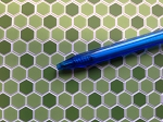 Hexagon Tile green Flooring for your Dollhouse 1:12 scale