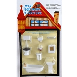 Miniature 1:48 Plastic Bathroom Furniture Set Suite