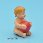 Baby With Ball 1:12 scale for dollhouse miniature