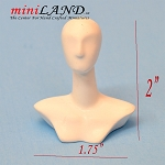 Miniature hat stand BUST TORSO MANNEQUIN dollhouse 1:12 scale