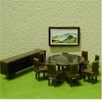 DINING ROOM SET 1:48 11PC Plastic