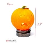 Halloween Pumpkin bright battery LED LAMP 1:12 on/off switch hop09