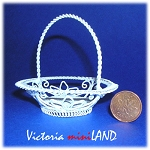 Wire Flower Basket WH123 for 1:12 dollhouse miniature